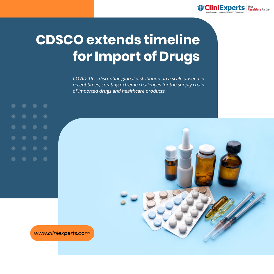 CDSCO extends timeline for Import of Drugs with residual shelf life less than 60 percent till Oct 31