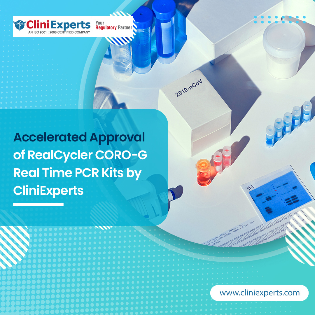 Accelerated Approval of RealCycler CORO-G Real Time PCR Kits by CliniExperts
